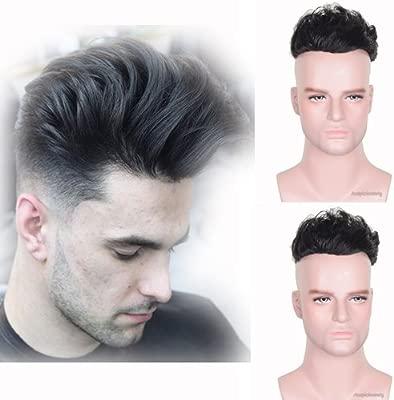 Auspiciouswig - Piezas de pelo humano natural para hombre ...