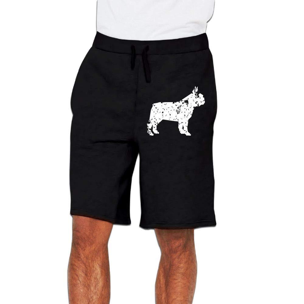 Yecx-1 Mens Vintage Floral French Bulldog Jogger Shorts Bodybuilding Short