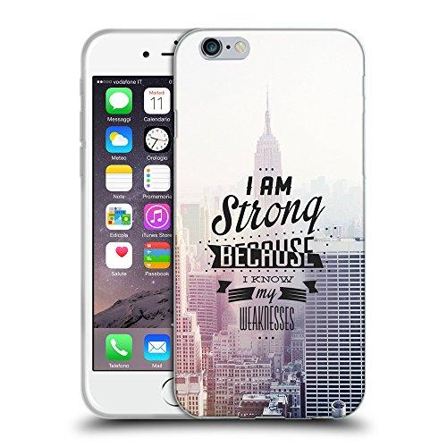 """Just Phone Cases Coque de Protection TPU Silicone Case pour // V00004066 La raison pour laquelle je suis fort // Apple iPhone 6 4.7"""""""