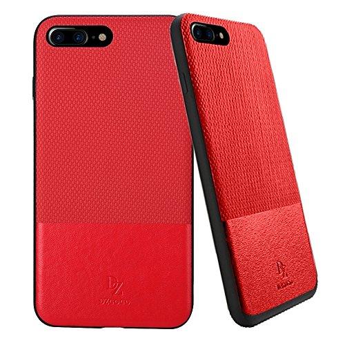 MXNET IPhone 7 Plus Case, TPU + PC Business Style Lederbekleidung Schlagkombination Schutzhülle CASE FÜR IPHONE 7 PLUS ( Color : Red )