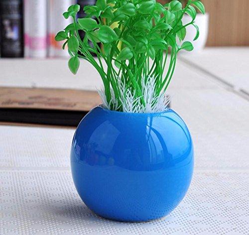 situmi人工フェイク花シミュレーション植物クリエイティブセラミック花瓶ファッション装飾誕生日プレゼントPotted Plantsブルーホームアクセサリー B074H8XPZ5