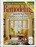 img - for Remodeling - Ideas for Your Home - Winter 2000 (Better Homes and Gardens) book / textbook / text book