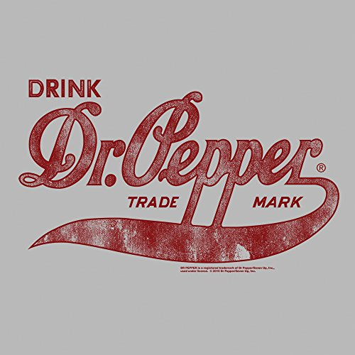 8b4176e96ad Tee Luv Drink Dr Pepper T-Shirt - Retro Dr Pepper Signature Logo Shirt Grey
