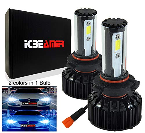 Replace Headlight 2006 Honda Accord - ICBEAMER 9006 9012 HB4 Low Beam LED COB Headlight Bulb Replace OEM Halogen Lamp [Color: 6000K White 30000K Dark Blue]