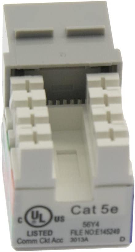 50-Pack, White Beszin Cat.5E RJ45 110 Type Keystone Jack
