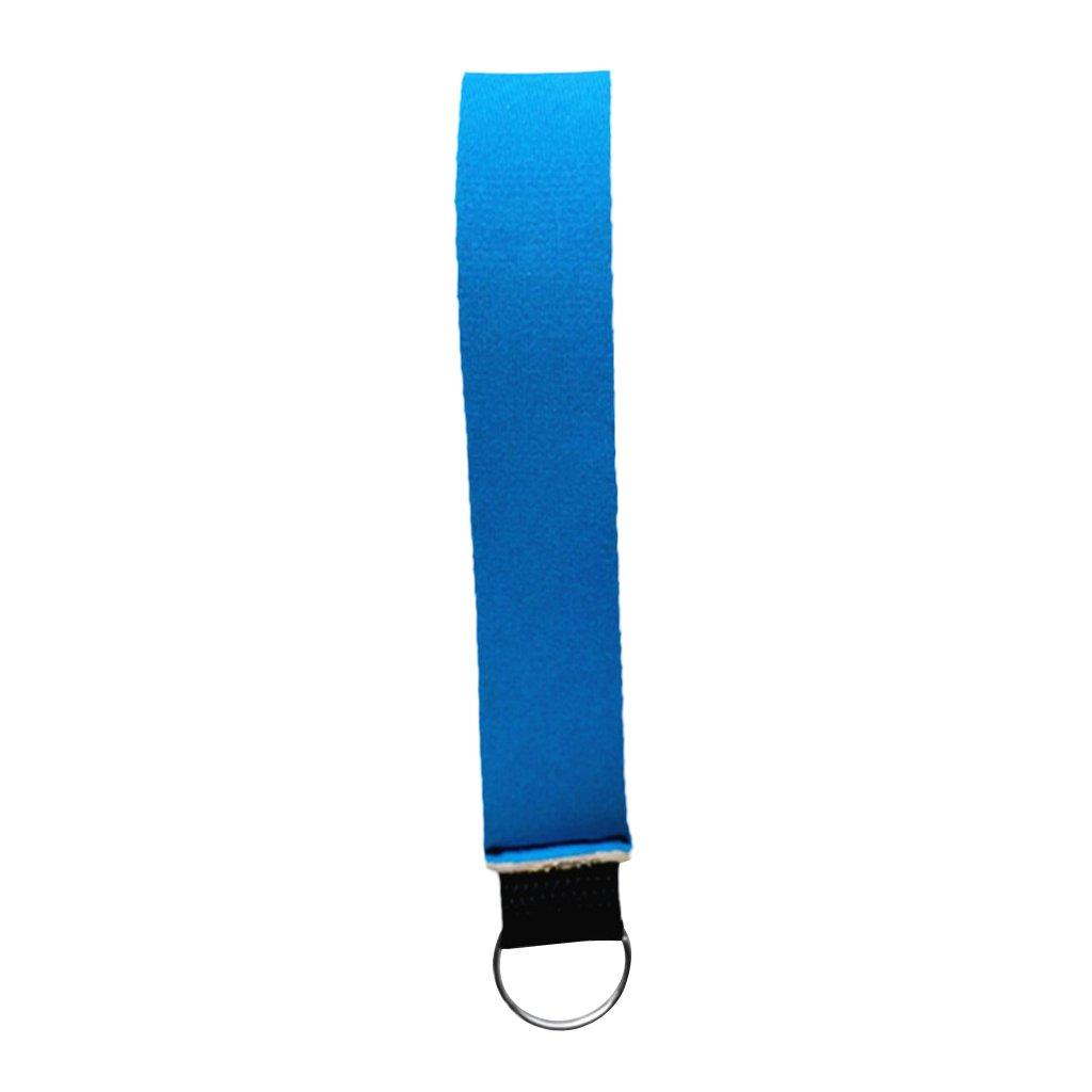 Sharplace Durable Comfort Neoprene Wristlet Keychain Wrist Strap Key Holder Split Ring