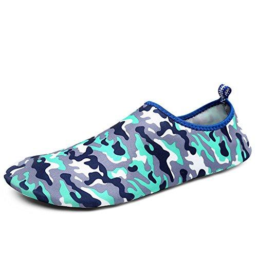 playa zapatos cuidado de la zapatos piel DFS camuflaje de Lucdespo 2 acuático Skid calzado esquí Anti transpirables azul Ultra light natación XqfwOxIp