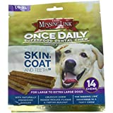 The Missing Link - Once Daily All Natural Omega Dental Chew - Skin, Coat & Teeth - L/XL Dog - 14 Day Supply
