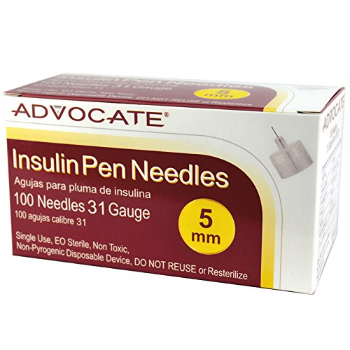 Advocate Pen Needle 31G x 5mm 3/16'' 100/bx 12bx/cs, Case of 12