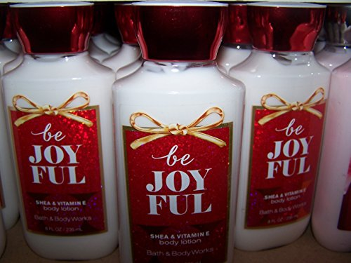 Lot of 3 Bath Body Works Be Joyful Shea Vitamin E Body Lotion 8 fl oz each Be Joyful