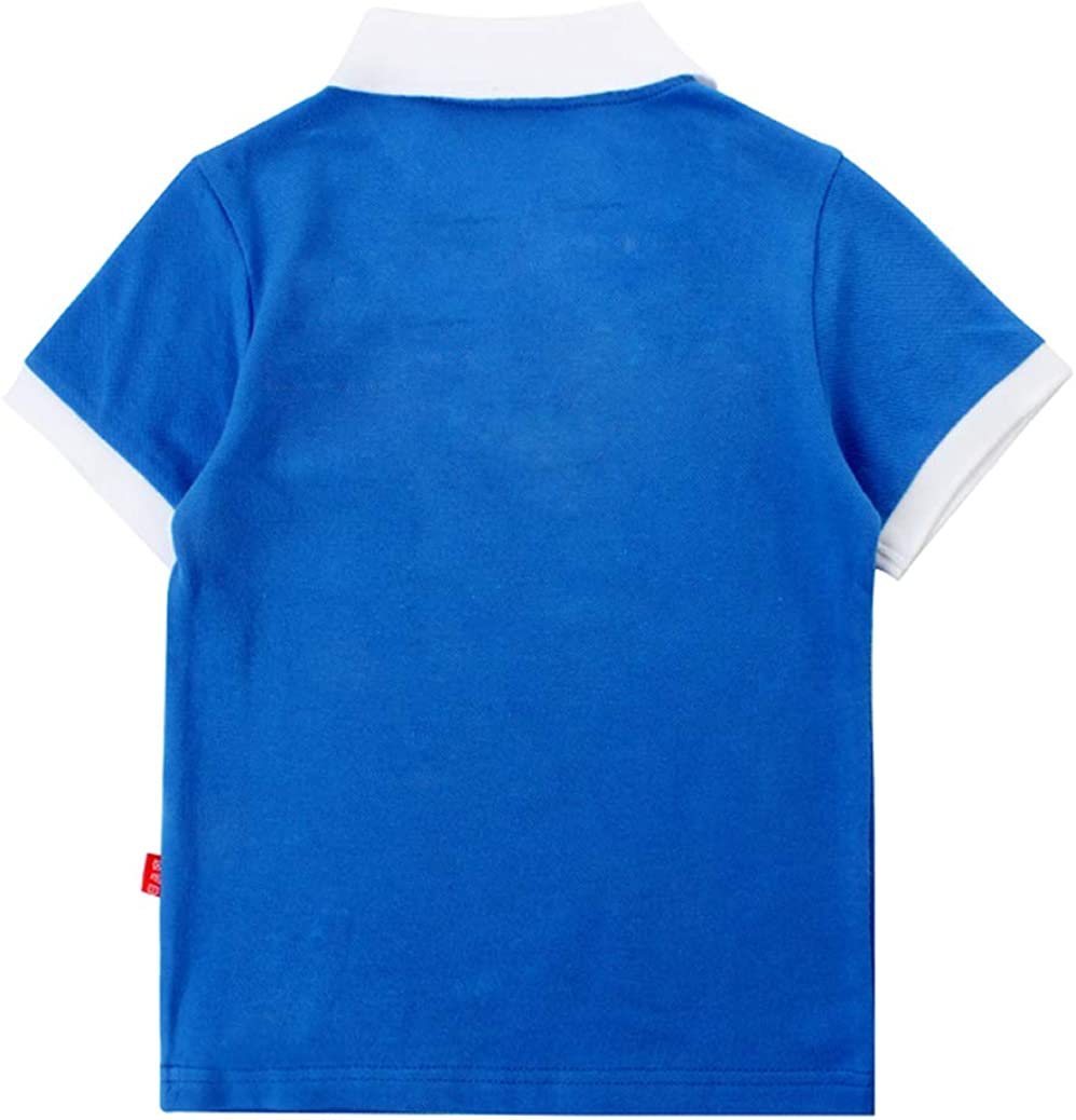 Coralup Boys Polo Shirts Tops Kids Short Sleeve T-Shirt Casual Summer Clothes School Uniform 4-13 Years