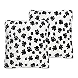 Sweet Home Collection Plush Pillow Faux Fur Soft and Comfy Throw Pillow (2 Pack), Dalmatian