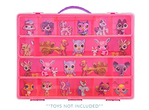 Littlest Pet Shop Case, Toy Storage Carrying Box. Figures Playset Organizer. Accessories For Kids by LMB