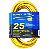 CEP Construction Electrical Products 1202 12-Gauge 3 Wire 25-Feet Yellow Extension Cord