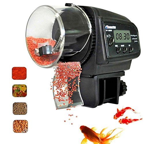 Fish Feeder, Automatic Fish Feeder, eBoTrade Aquarium Tank Auto Fish Food Timer Batteries Included (Auto Fish Feeder)
