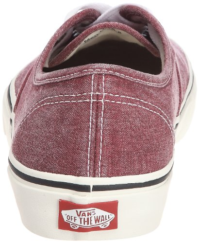 Vans Authentic VQER69I - Zapatillas de deporte de tela unisex Rojo (Washed (Rio Red))