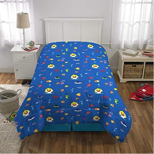 Franco Kids Bedding Super Soft Comforter and Sheet Set with Bonus Sham, 5 Piece Twin Size, Baby Shark 6