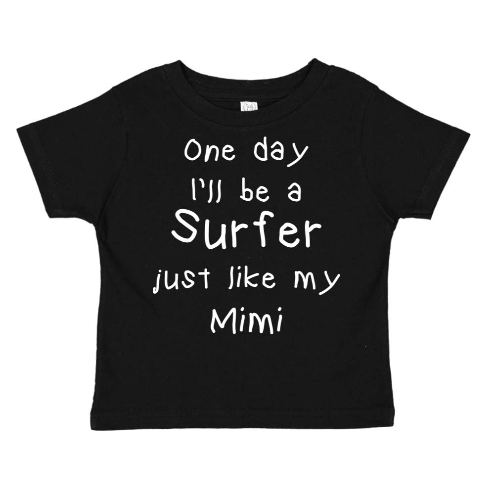 One Day Ill Be A Surfer Just Like My Mimi Toddler//Kids Short Sleeve T-Shirt