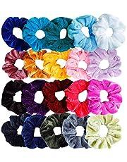 Sinwind Scrunchies haarelastiekjes voor meisjes, 20 stuks, fluweel, elastische haarelastiekjes voor vrouwen of meisjes, haaraccessoires (kleurrijk)