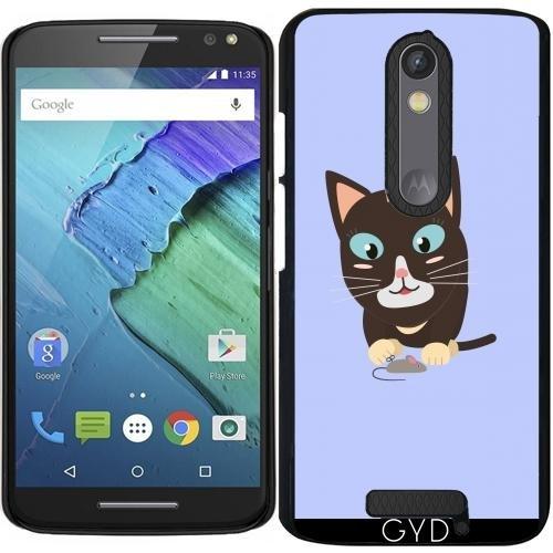 Hülle für Motorola Moto X (3 generation) - Katze Mit Spielzeug-Maus by ilovecotton