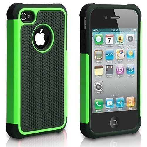 (iPhone 5C Case, AUMIAU Hybrid Dual Layer Shock Absorbin Armor Defender Protective Case Cover (Hard Plastic with Soft Silicon) for Apple iPhone 5C)