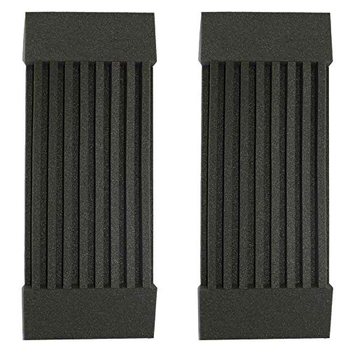 2 Pack - Decorative Acoustic Panels Studio Soundproofing Foam Wedges Wall Panels provide Baffle Kit 36 x 12 x 3 Made in Usa