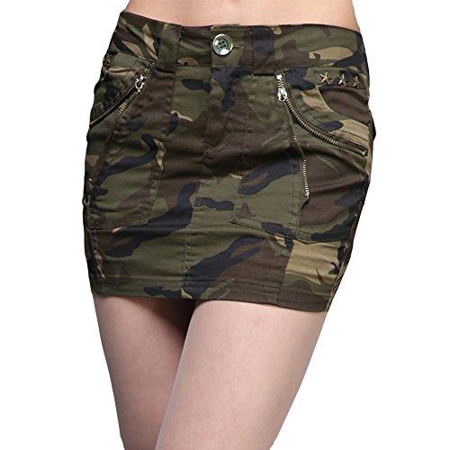 Jupes Courte Jupe Runyue Bodycon Mini Elastiqu Serres Camouflage Dcontracte Femme Crayon wqwSPgzI