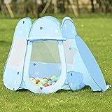 COSTWAY Kids Princess Play Tent Playhouse w/ 100 Ocean Balls - Blue