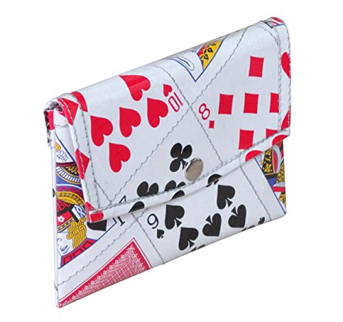 Snap button coin purse using random playing cards - Free standard shipping - Upcycling by Milo