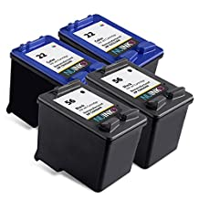 NUINKO 4 Pack Remanufactured HP 56 HP 22 Ink Cartridge Black and Color C6656AN C9352AN for HP OfficeJet 5610 5600 5610xi 5610v 5605 Printers
