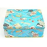 "Rectangle Kitchen Food Storage Tin Tea Sugar Cookie Cupcakes Box ""Sewing fashion"" MY-3499"