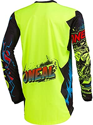 ONeal Element Villain Gray Adult motocross MX off-road dirt bike Jersey Pants combo riding gear set Pants W30 // Jersey Medium