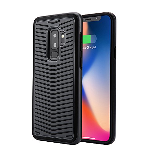 Cvensity Samsung Galaxy S9 Plus Case, Shockproof Phone Protective Cover Case Nonslip Anti-Scratch Stripe Design Heavy Duty Protection-Black