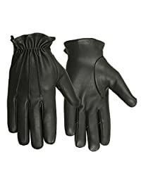 Men's Deerskin Water Resistant Leather 3 Seam Short Glove for Motorcycle Riding or Casual Driving