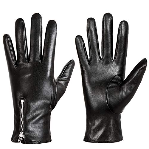 Winter Leather Gloves for Women, Touchscreen Texting Warm Driving Gloves by Dsane ()
