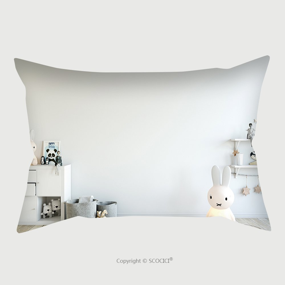 Custom Satin Pillowcase Protector Mock Up Wall In Child Room Interior Interior Scandinavian Style D Rendering D Illustration 572879341 Pillow Case Covers Decorative