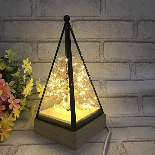 Qgt Floor Lamps Power Switch Button Led Night Light Wooden Floor Lamp Triangle Tower Glass Table Lamp Bedroom Living Room Home Decoration Fixtures Lighting Price In Uae Amazon Uae Kanbkam