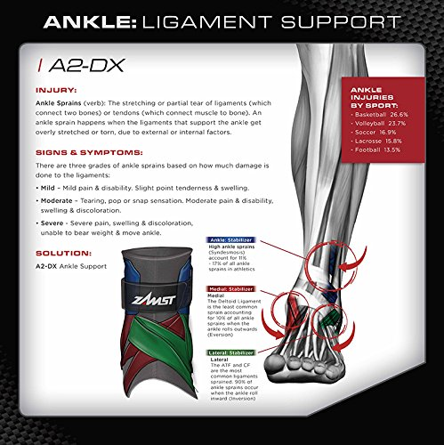 Zamst A2-DX Right Ankle Brace, Black, Small Photo #9