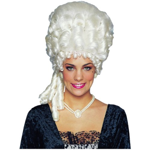 Wig Marie Antoinette Platinum (Costume Culture Women's Marie Antoinette Wig, Platinum, One Size)