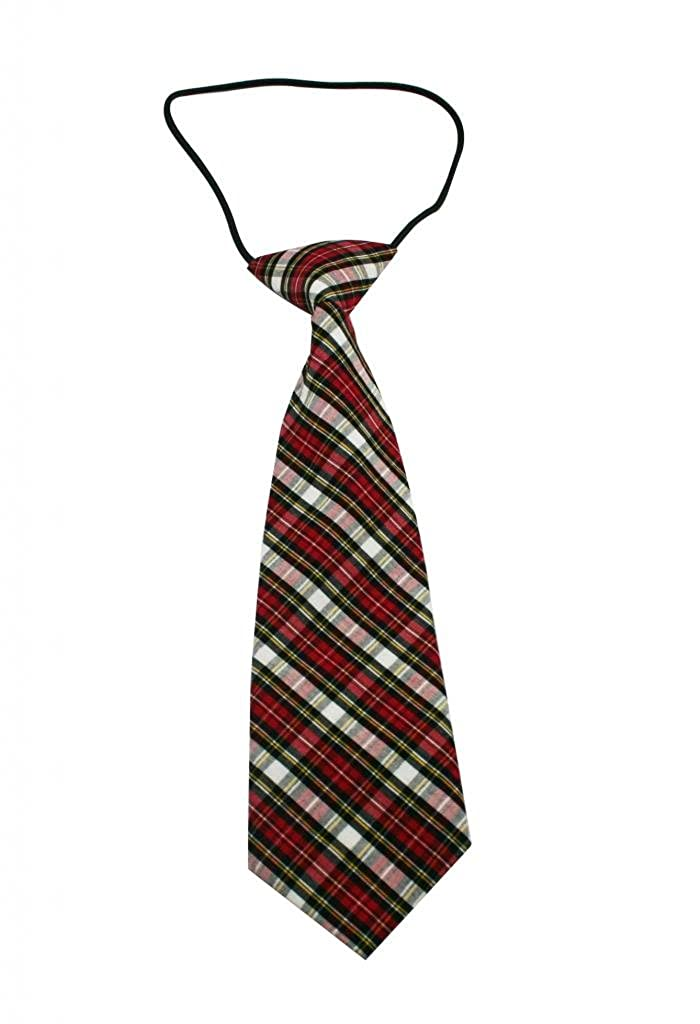 Pack Of 2 Yongshida Boys Polyester Elastic Neck Tie Mix Color Stripe Style