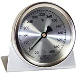 Analog Oven Thermometer - Stainless Steel - 2.4 inch Diameter Scale