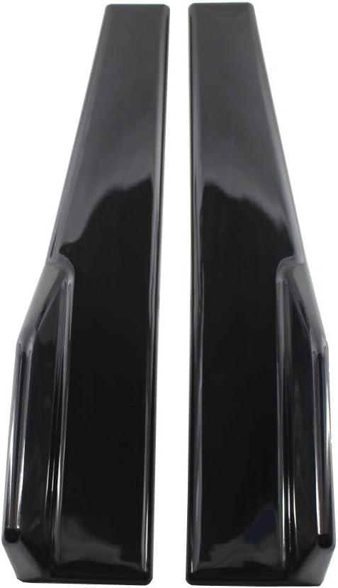 Haudang Side Skirts Fits Universal Vehicles Black 450mm Exterior Side Bottom Line Extensions Splitter Lip Car Diffusers Gloss Black