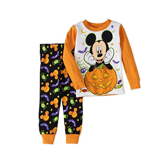 Disney Baby boys Mickey Mouse Two-Piece Halloween Pajamas, Orange, 12 Months by Disney