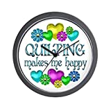 CafePress – Quilting Happiness – Unique Decorative 10″ Wall Clock For Sale