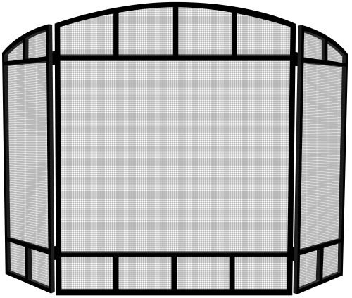 Panel 3 Fireplace Mission Screen (Uniflame S1734 Black 3 Panel Mission Screen)