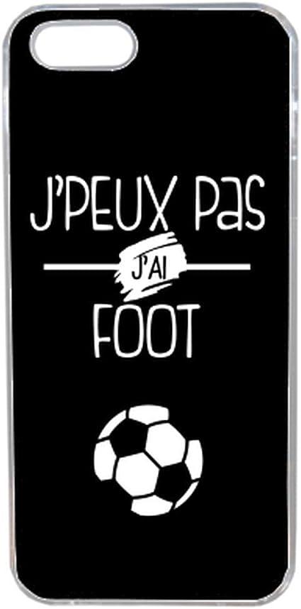 Générique Coque j'peux Pas J'Ai Foot 1 Compatible iphone 5s Transparent