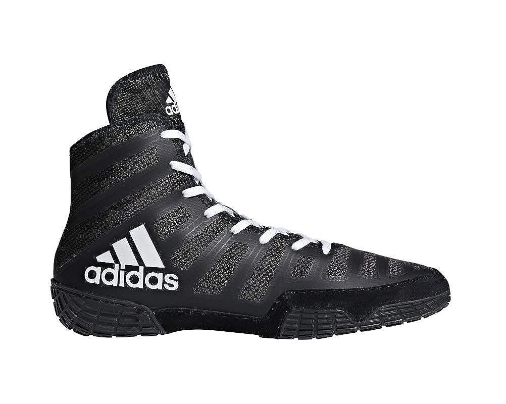 Adidas Adizero Varner Lucha de schuhe, schwarz real   Weiß  , 4 M con nosotros schwarz Weiß