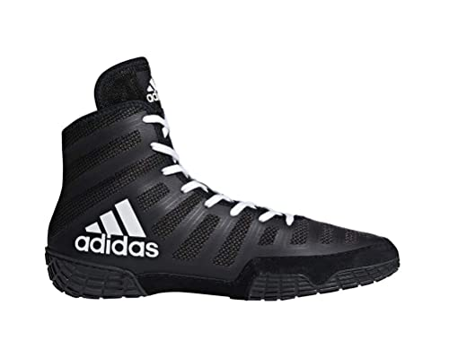 quality design 1286e 45644 Adidas Adizero Varner Lucha de zapatos, negro real   blanco  , 4 M con  nosotros  Amazon.es  Zapatos y complementos