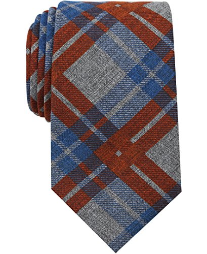 Nautica Men's Waves Plaid Tie Accessory, -tangerine, One Size (Tie Tangerine Dress)