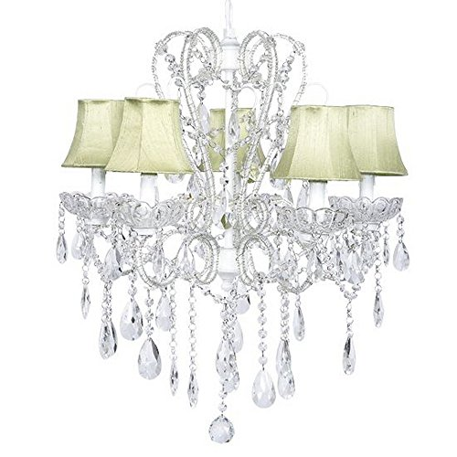 5 Light Incandescent Chandelette (DO NOT SET LIVE!Carousel 5 Light Chandelier With Plain Shade)